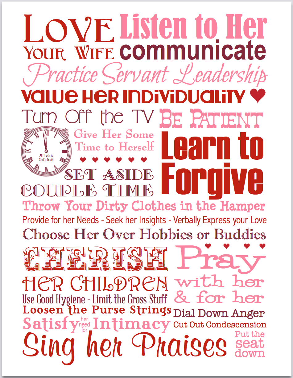 Love Your Wife | subway art printable from https://alltruthisgodstruth.com